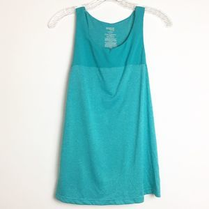 DANSKIN NOW SEMI-FITTED TEAL BLUE TANK TOP SZ M